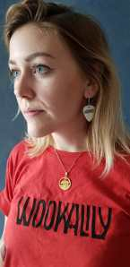Earrings and red tee 3
